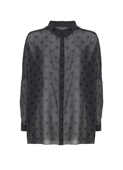 TK MAXX_czarna koszula w srebrne grochy_54.99 PLN