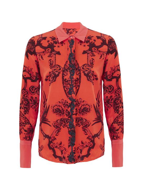 TK MAXX_czerwona koszula z czarnym wzorem_129.99 PLN