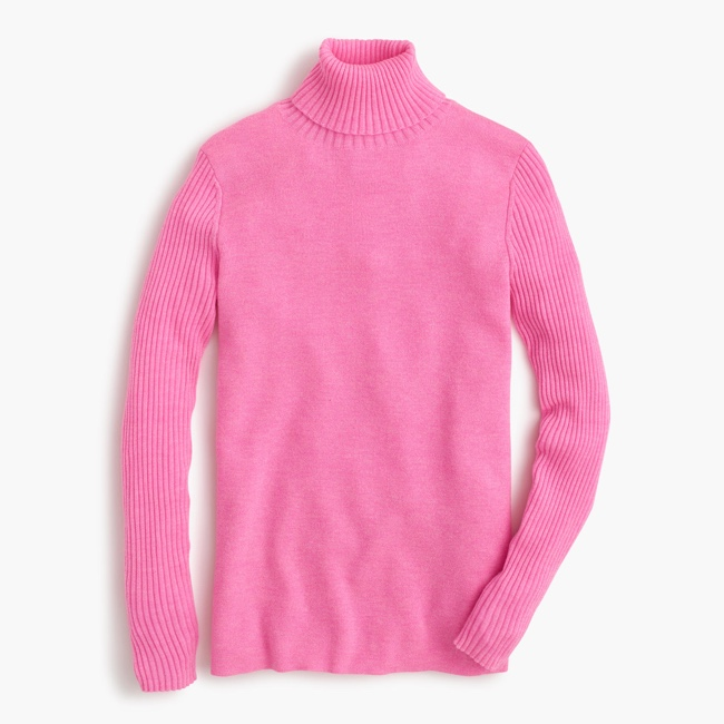 J.Crew MERINO TURTLENECK SWEATER WITH RIBBED SLEEVES 89,90 USD
