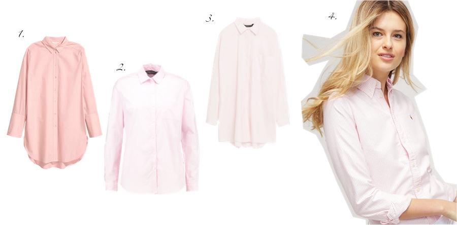 rozowa koszula